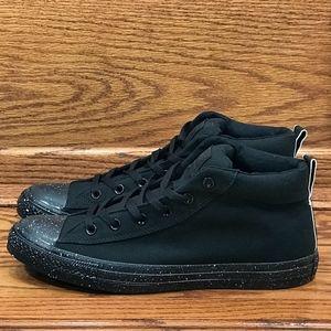 Converse CTAS Street Mid Black White Shoes